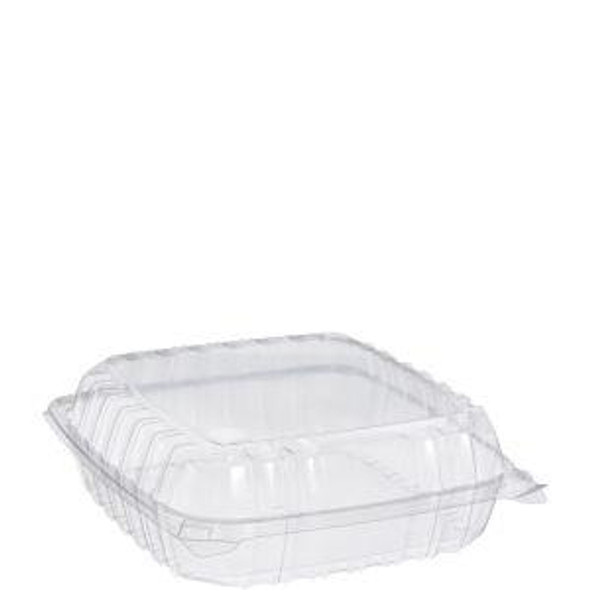 """C95PST1 Dart ClearSeal® Plastic Hinged Container 9"""" x 9"""" x 3"""""""