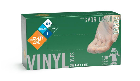 The Safety Zone ® Small Clear Vinyl Gloves Powdered GVDR-SM-HH