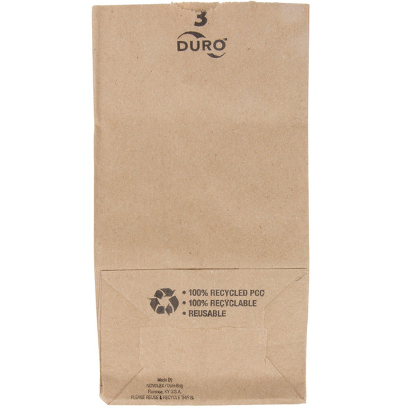 3 LB. Extra Heavy Duty Brown Paper Bags