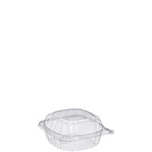 """C53PST1 Dart ClearSeal® Plastic Hinged Container 5"""" x 5"""" x 3"""""""