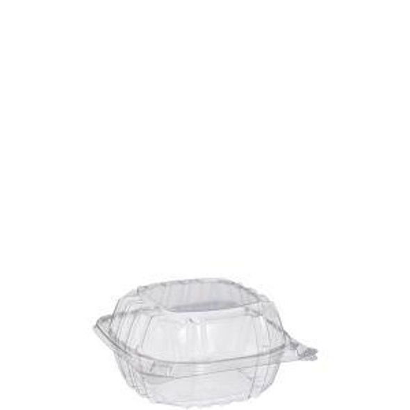 "C57PST1 ClearSeal® Plastic Hinged Container 6"" x 6"" x 3"""
