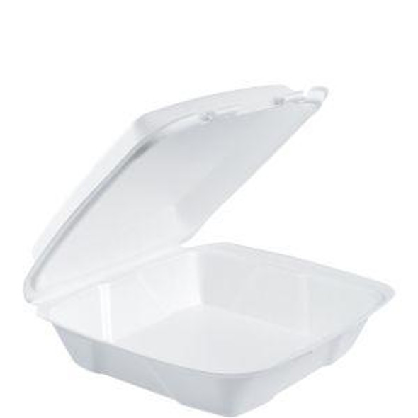 """90HT1R Dart Foam Carry Out Container 9"""" x 9"""" x 3"""" 1 Compartment"""