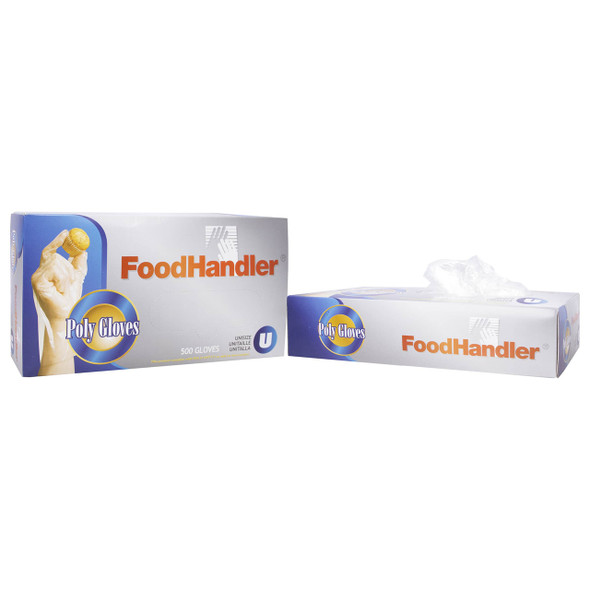 Food Handler XL Clear Poly Gloves 104-508
