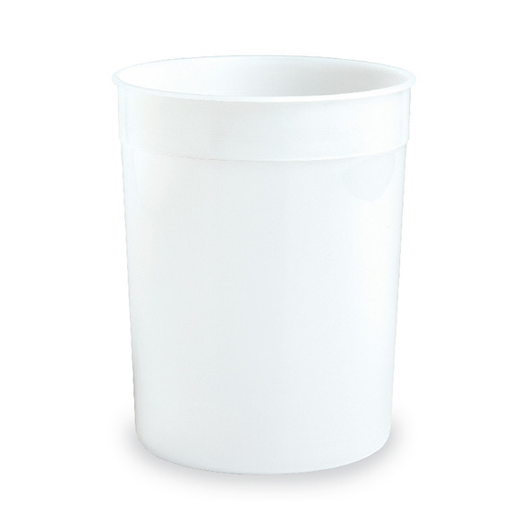 128 Oz. HDPE Natural Cup 100 Case Count 162642