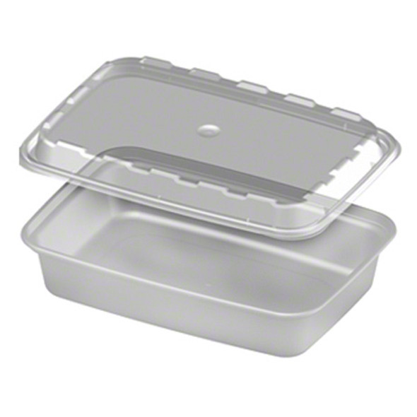 CR-815C CUBE 16 Oz. Clear Containers (Combo pack: 150 Sets)