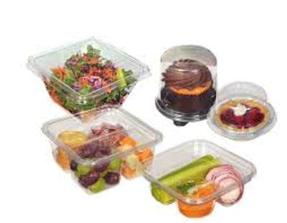 4 Compartment Snack Container 66-4C-25 (Combo Pack: 100 Trays/100 Lids)
