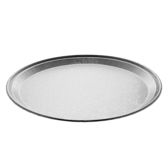 "12"" Flat Round Aluminum Tray Pactiv 451212A"