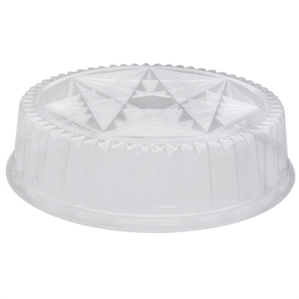 "12"" Clear Dome Lids for Pactiv Trays P4412"