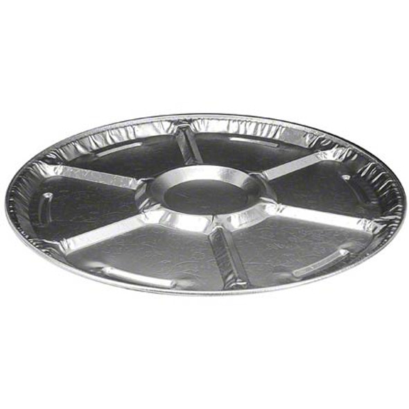 "12"" Round Aluminum 5 Compartment Lazy Susan Tray HFA 4012-70-25"