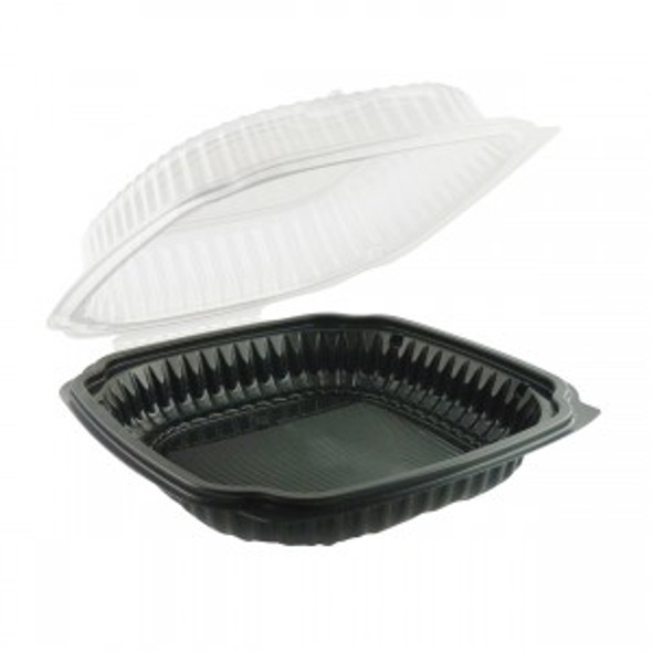 """Culinary Classics®  10"""" x 9"""" 1 Compartment Microwave Safe Hinged Container 4659611"""