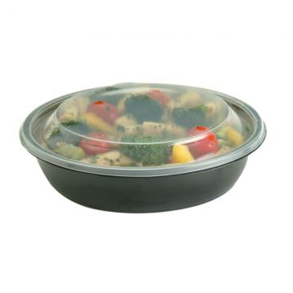Lids for 32 Oz. Black Microwave Safe Round Bowl 52771B300