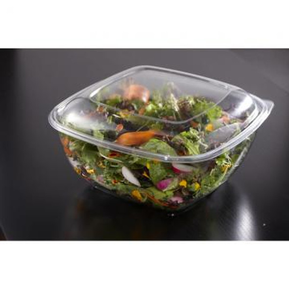 54160B50 Clear Dome Lid for 80, 160 oz. Square Bowls