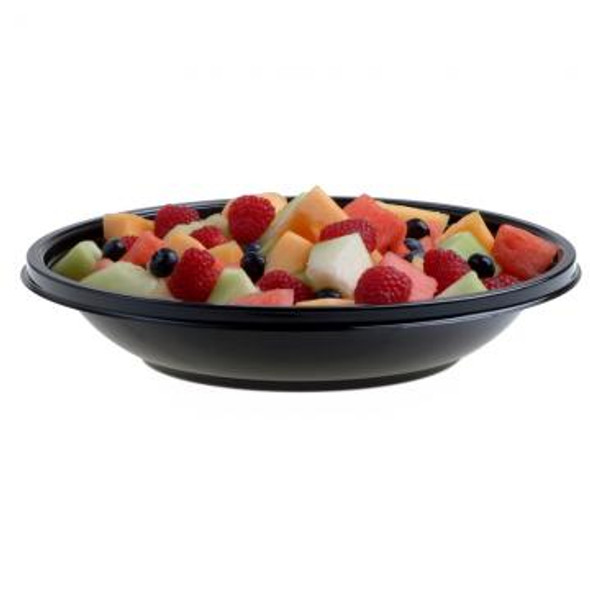Black 24 oz. Shallow Large Round Bowl 93024A100