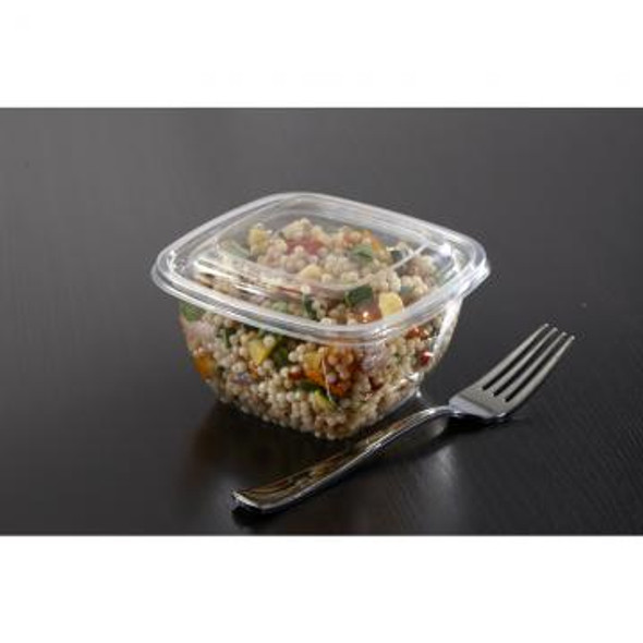 Clear Dome Lid for 8, 12, 16 oz. Small Square Bowls 52500B500