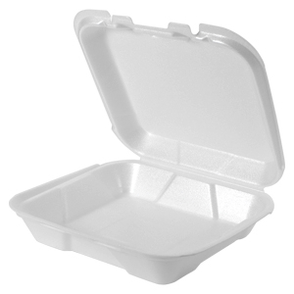 SN220 GENPAK Small Snap It Foam Hinged Dinner Container