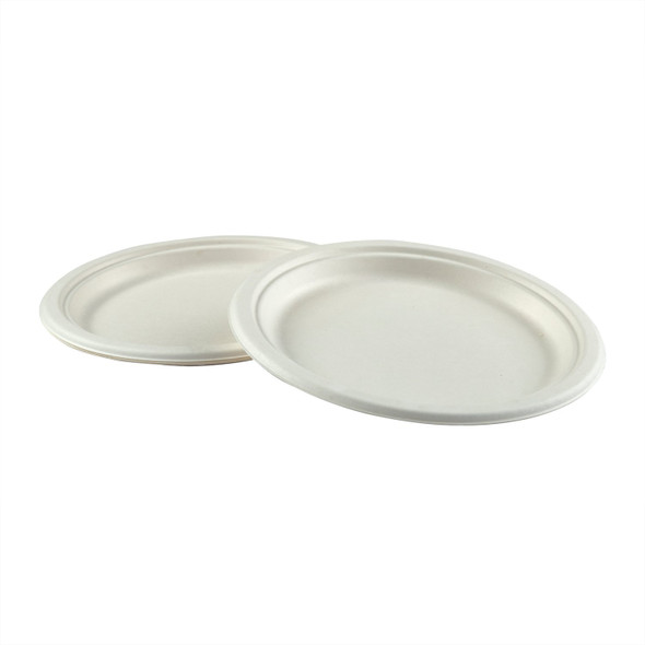 """PL-09 9"""" Round Compostable Plates (500 Pack)"""