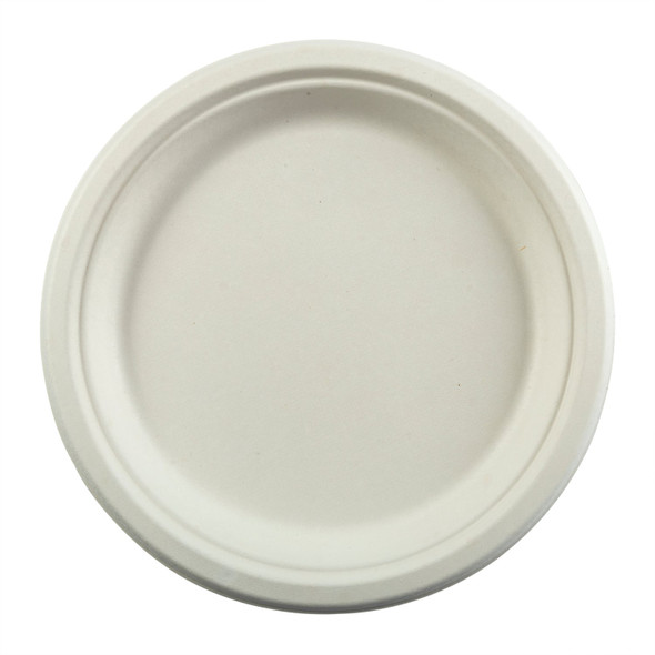 "PL-09 9"" Round Compostable Plates (500 Pack)"
