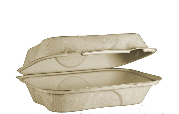 """TO-SC-UHB  Fiber Compostable Hoagie Container 9"""" x 6"""" x 3"""""""