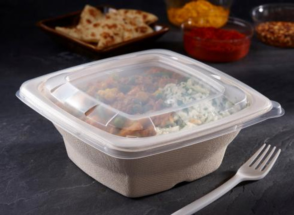 51932F300 Clear Lid for 24, 28, 32 oz. Square Pulp Bowls