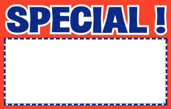 "7 x 11"" Special Sign Cards"