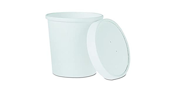 Dart 16 Oz. Hot White Paper Soup Cups KHB16A-2050 (Combo Pack: 250 Cups/250 Lids)