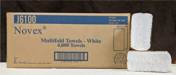 J6100 White Multifold Towels
