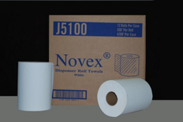 "J5100 7.75"" x 350' White Roll Towel"