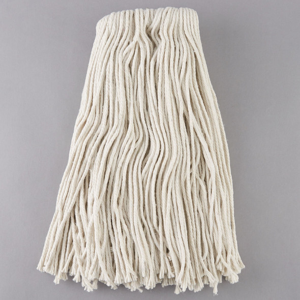 32 oz. Cut End Natural Cotton Mop Head with Screw-On Band A503332