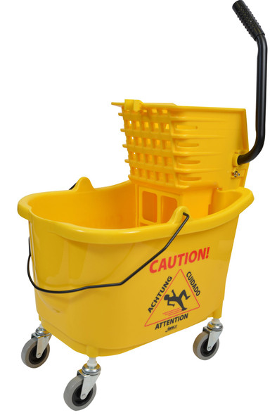 1010 Yellow Mop Bucket With Side Press Wringer Combo 35 Quart