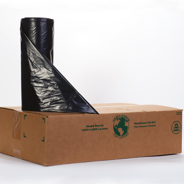Noramco R404822K 45 Gallon Black Trash Bag Liner - 40 x 48 in. 22 Micron