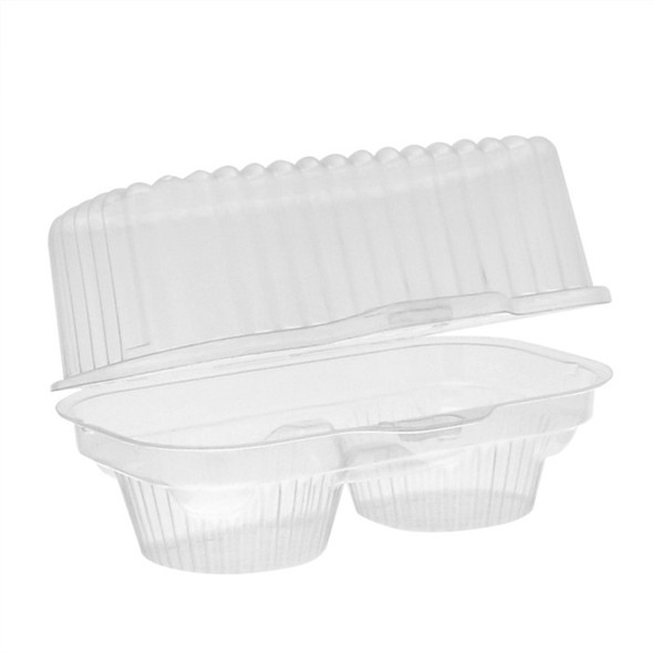 Pactiv 2 Count Clear Plastic Cupcake Containers 2002