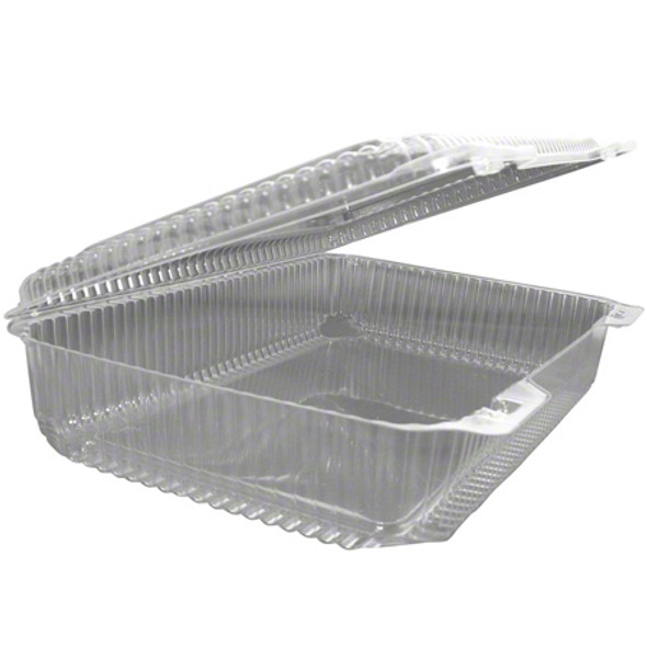LBH-977 Clear Plastic Hinged Container  12 3/16 x 8 3/4 x 2 7/8 in.