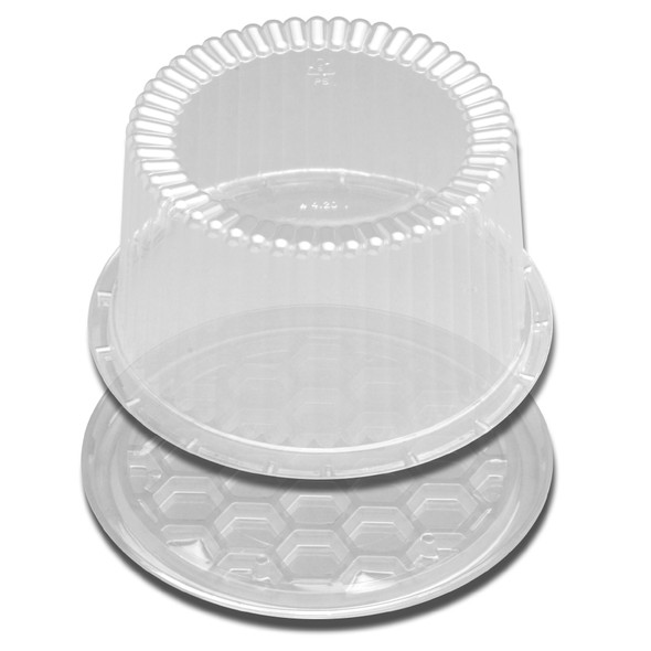 "H31-1 7"" Plastic Clear Deep Cake Container"