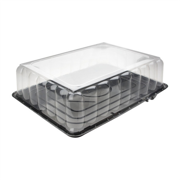 """1/2 Sheetcake Base w/5"""" Tab Fluted Dome Combo Pack YHSB500R1TAB"""