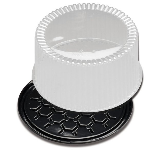 "G40-1 10"" Black Bottom Deep Cake Container"