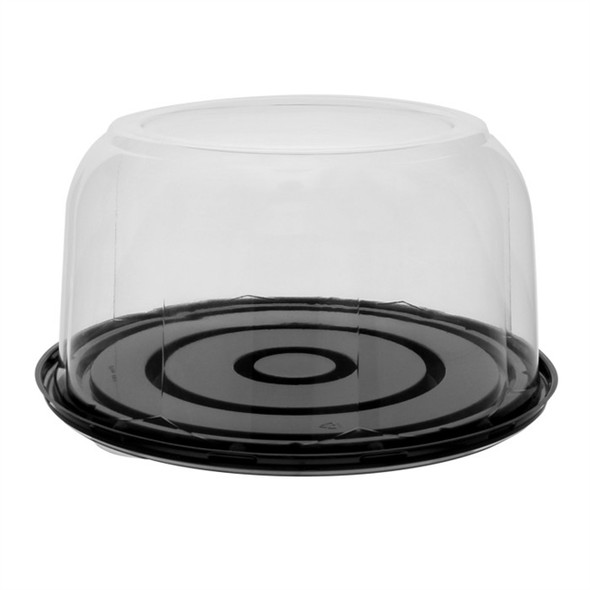 """CB1025BR525RZ 10.25"""" x 5.25 Deep Black Cake Container Combo Pack"""