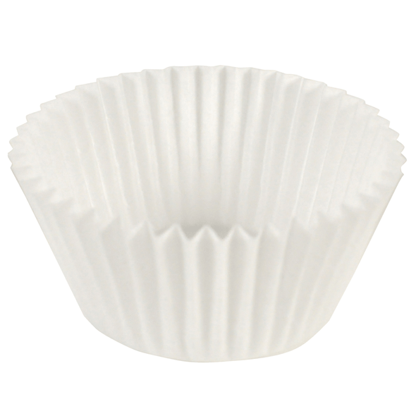 "3"" Diameter White Fluted Baking Cups BL114-3"
