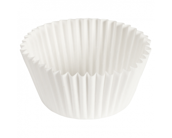 "4.5"" Diameter White Fluted Baking Cups 610031 (500 Pack)"