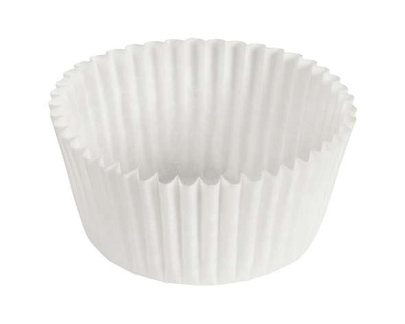 3.5 in x 1.5 in White Fluted Baking Cups 610011 (500 Pack)