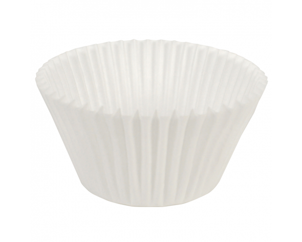 "6"" Diameter White Fluted Baking Cups BL214 (500 Pack)"