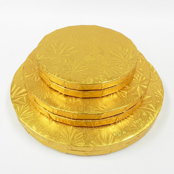 """ENJAY 24"""" Gold Round Cake Drums 1/2"""" Thick"""