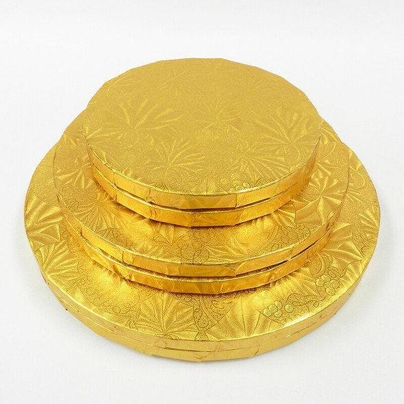 """ENJAY 26"""" Gold Round Cake Drums 1/2"""" Thick"""
