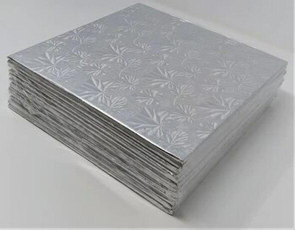"ENJAY 6"" Square Silver Board 1/4"" Thick"