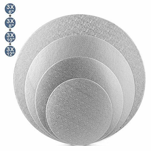 "ENJAY 8"" Round Silver Board 1/4"" Thick"