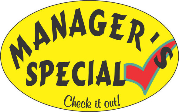 MANAGERS SPECIAL CHECK IT OUT 10205