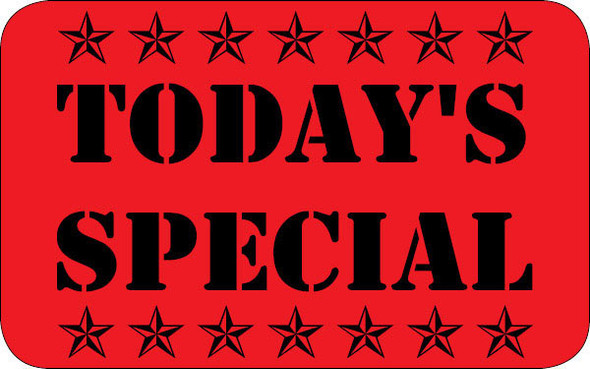 TODAY'S SPECIAL LARGE LABEL 10052