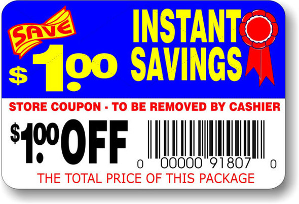 INSTANT SAVINGS $1.00 OFF LABEL 11007
