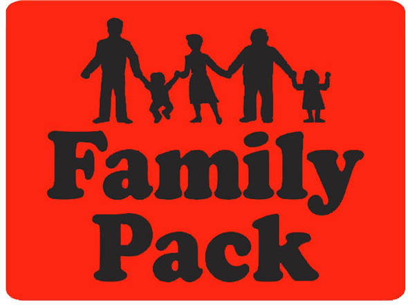 FAMILY PACK LG W/PEOPLE LABEL/ 10053