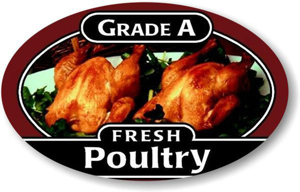 GRADE A FRESH POULTRY LABEL 10390