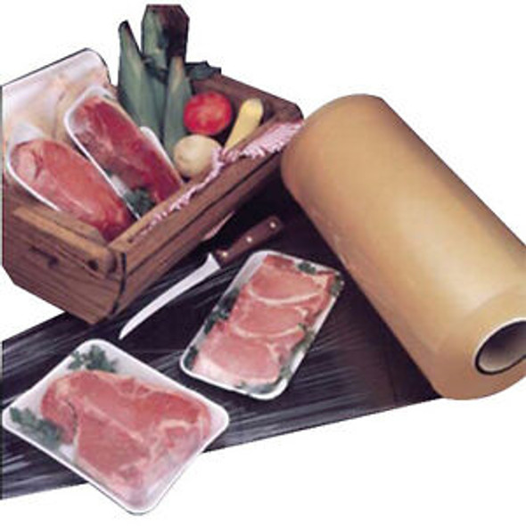 "18"" x 5000 ft. Elite Clear Stretch Meat Film 50 Gauge 35131800"
